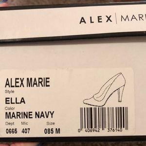 Alex Marie Shoes - Navy Blue High heels 👠 EUC in original box.